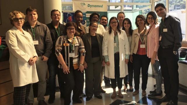 Dra. Lucia e os participantes do curso de Manometria Anorretal na CSSJ.