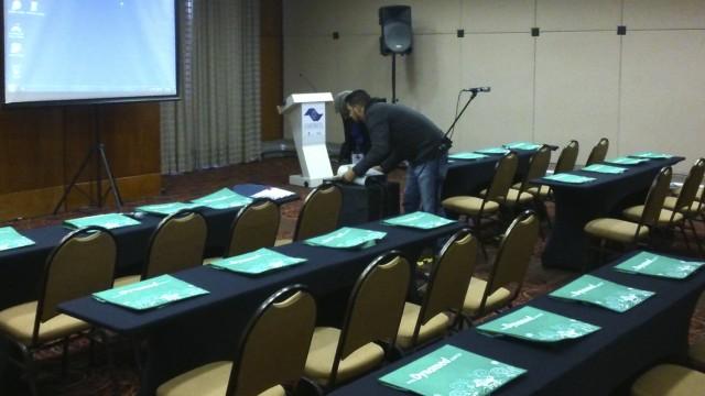 Os preparativos para o curso.